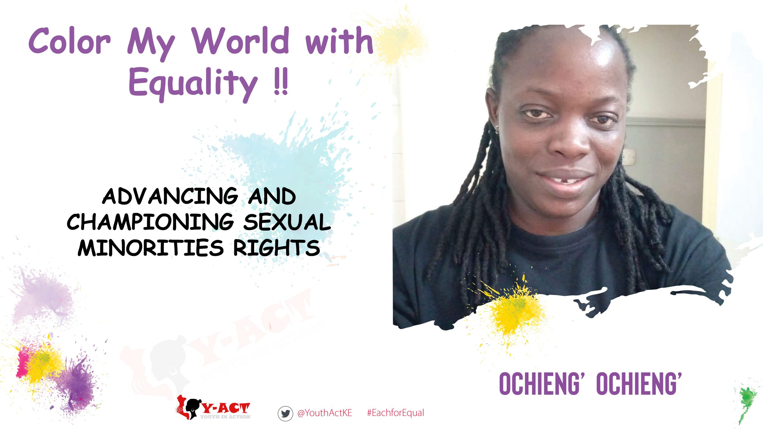 MAURICIO OCHIENG' – COLOR MY WORLD COMPETITION WINNER- WOMEN ADVANCING AND CHAMPIONING SEXUAL MINORITIES RIGHTS.