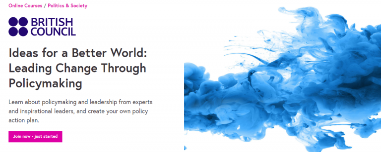 Ideas for a better world: Leading Change Through Policymaking