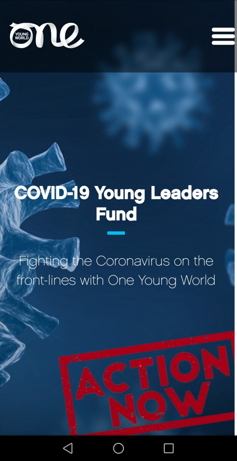 ONE YOUNG WORLD: COVID-19 YOUNG LEADERS FUND