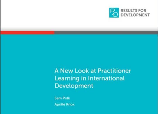A New Look at Practitioner Learning in International Development