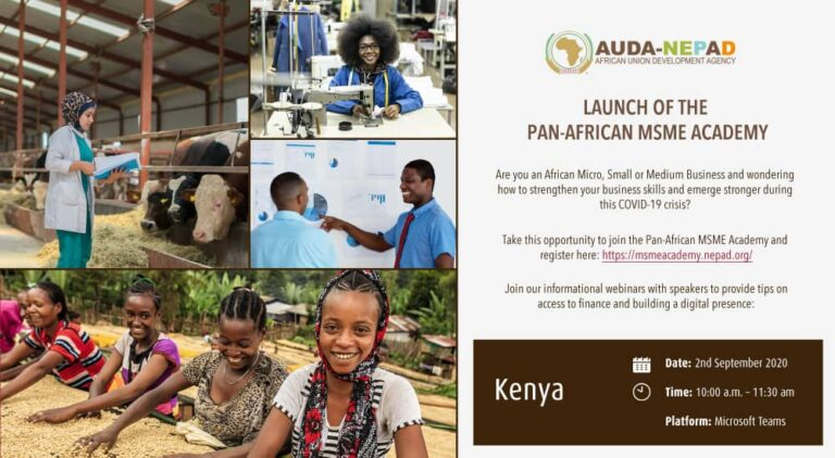 LAUNCH OF THE PAN-AFRICAN MSME ACADEMY