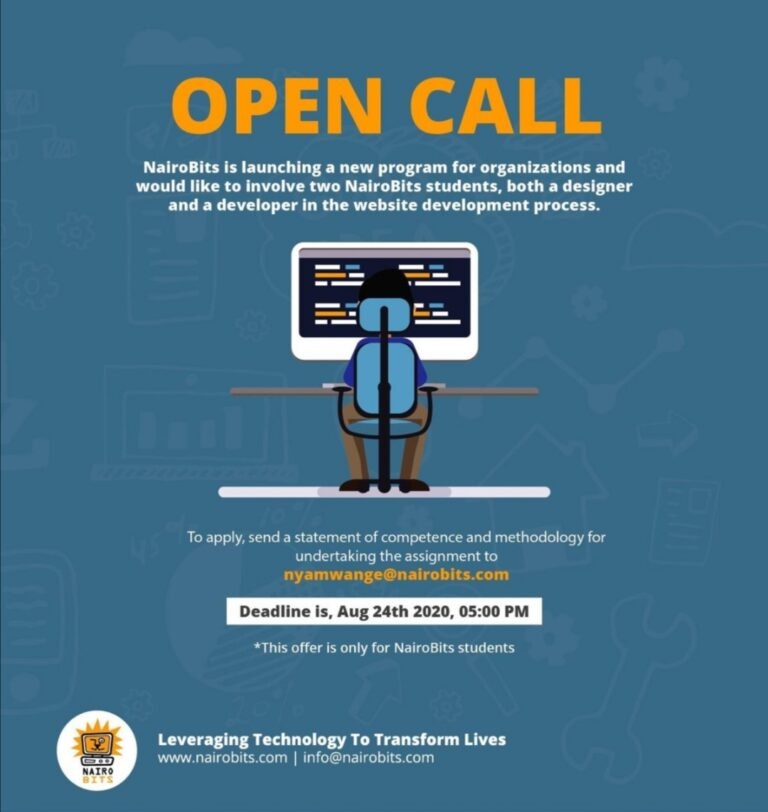 OPEN CALL FOR NAIROBITS STUDENTS