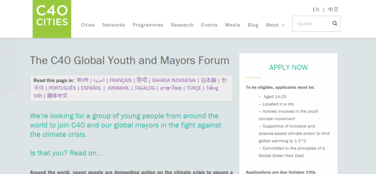 The C40 Global Youth and Mayors Forum